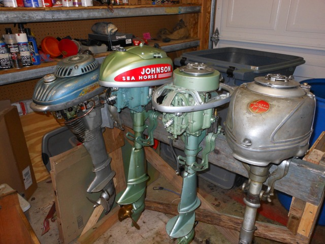 Johnson Model DT-37 4.2hp, TD-20 (2)5hp, and a Lauson S-300 3hp
