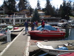 Activity on the dock